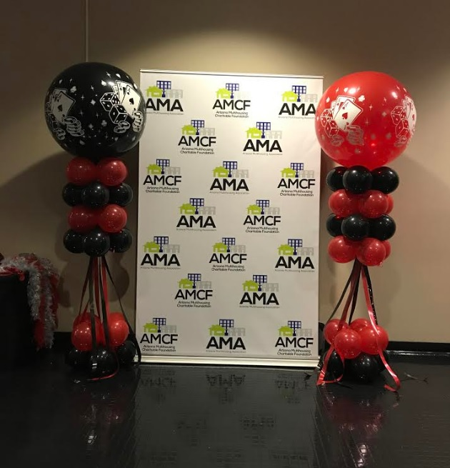 Columns for AMCA and AMA fundrasing event at TCC
